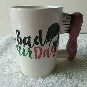 Other - [NWOT]  Fun Hair Brush Ceramic Coffee Mug
